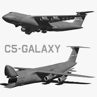 3d lockheed c5 galaxy model