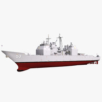 3d uss mobile bay cg-53 model