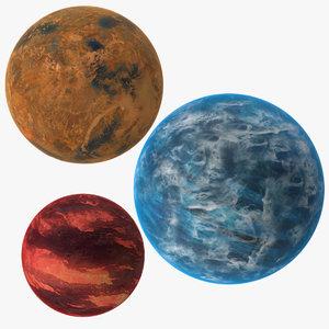 3d alien planets