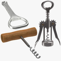 c4d corkscrews bottle opener