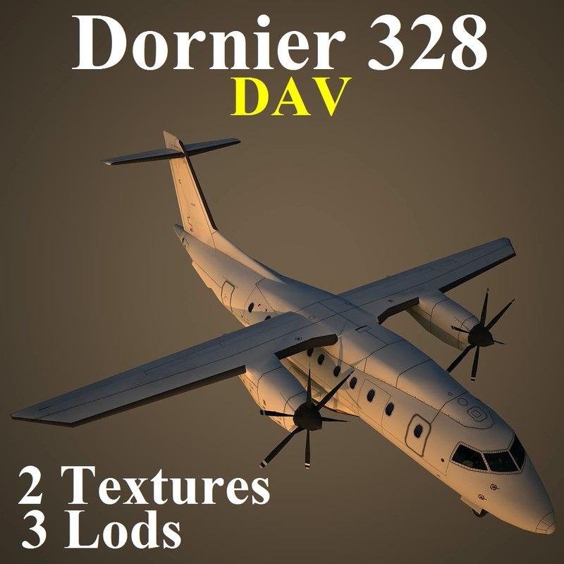 3d dornier 328 dav model
