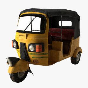 3d model auto rickshaw