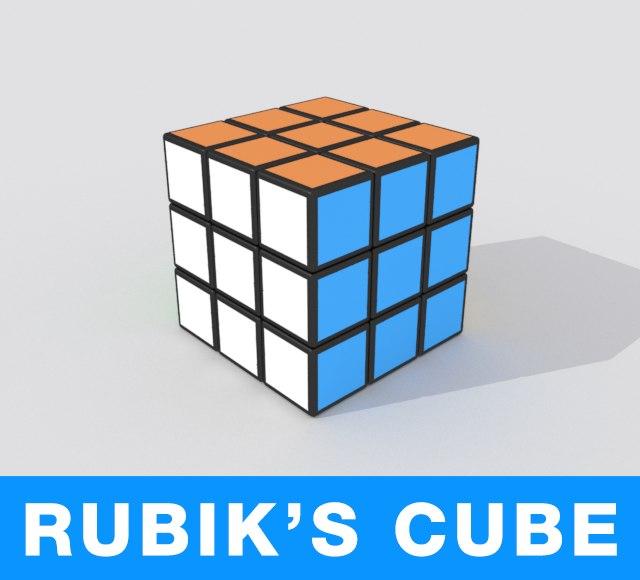 rubik s cube 3d max. Black Bedroom Furniture Sets. Home Design Ideas
