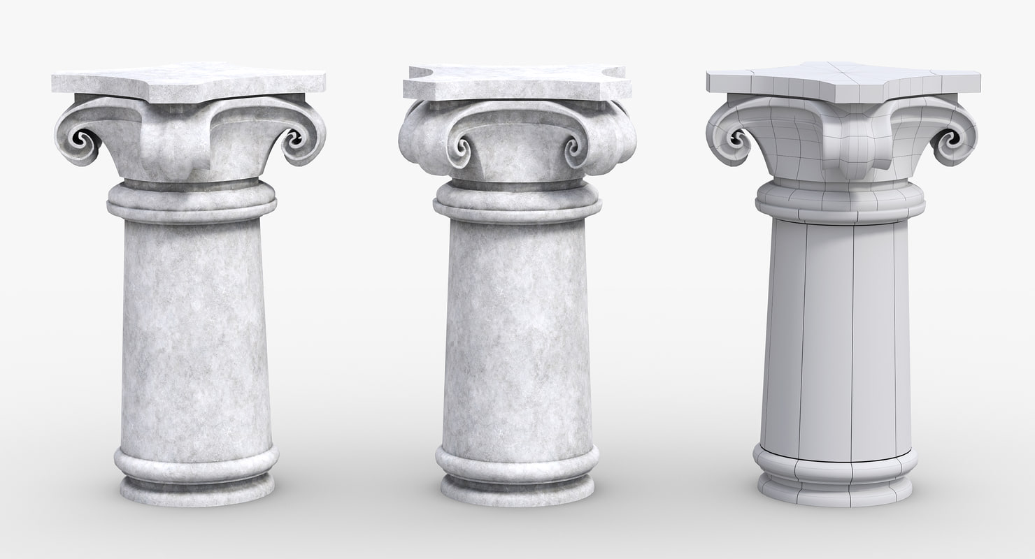 antique column obj free