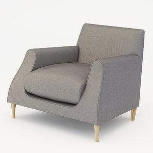 3d model armchair lucas matthew hilton