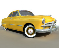 Low Poly Yellow RETRO car