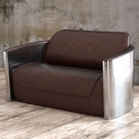 3d aviator sofa 2 seat