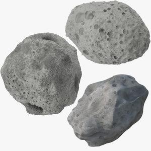 asteroids 3 3d max