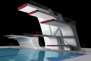 3d dive towers pool
