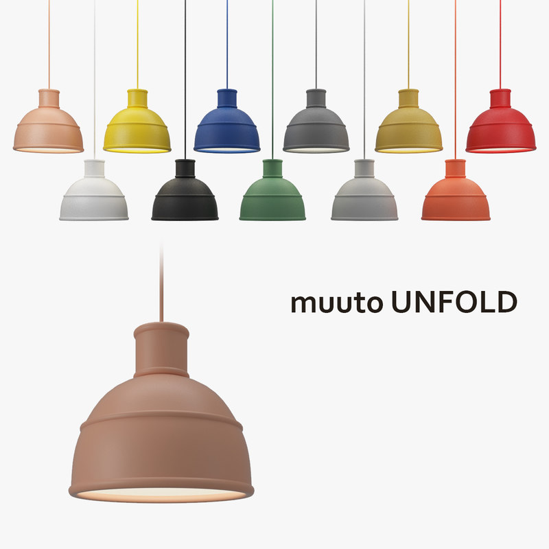 muuto unfold lamp shade 3d model