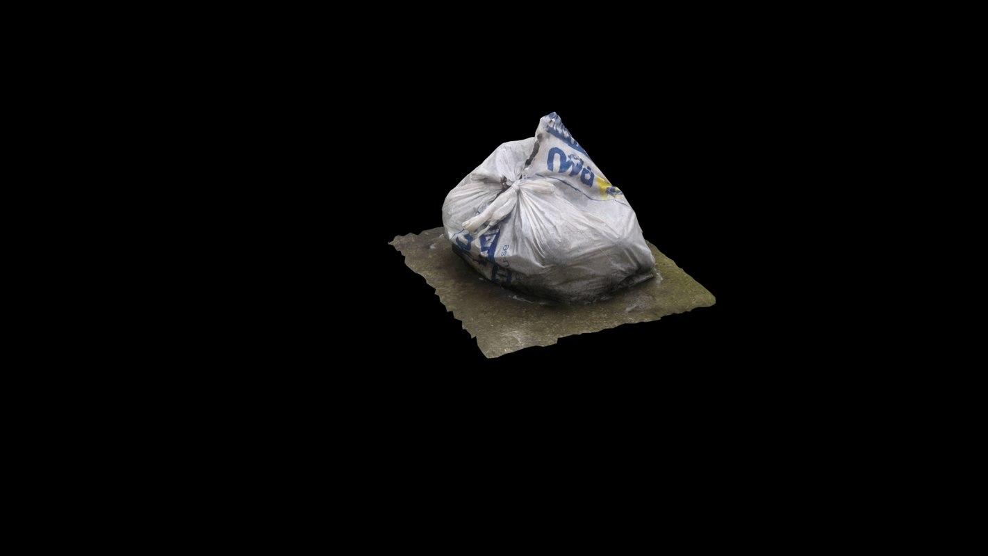 scan garbage bag 3d obj