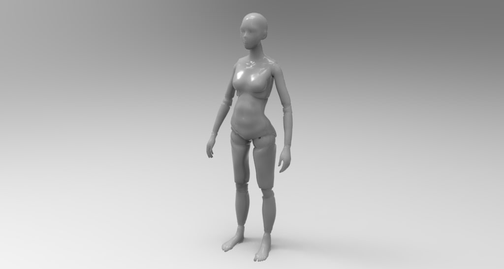 ball jointed doll printing 3d model