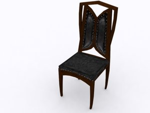 3d chairwood chair model