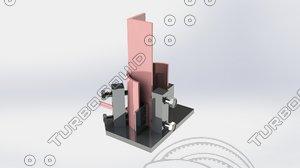 3d device welding assembly model