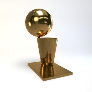 3d model basketball trophy