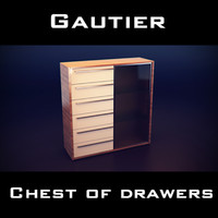 gautier neos storage unit 3d 3ds