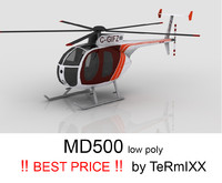 3d model helicopter md-500