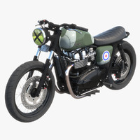 3d triumph bonneville raf edition model