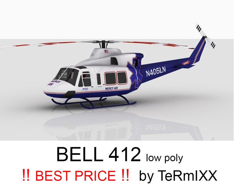 bell 412 medic air 3d model
