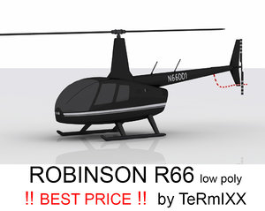 helicopter robinson 3d 3ds