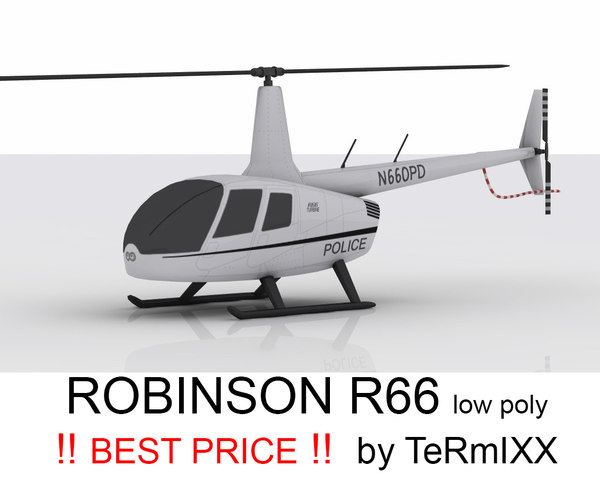 3d model of helicopter robinson police