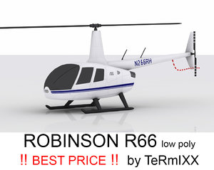 3d c4d helicopter robinson