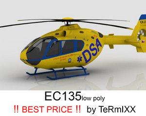 heli ec-135 dsa 3d model