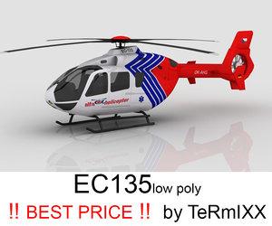 3d model heli ec-135 alfa helicopter