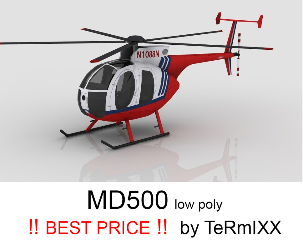 3d helicopter md-500