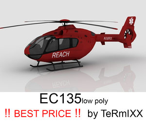 3d heli ec-135 reach model