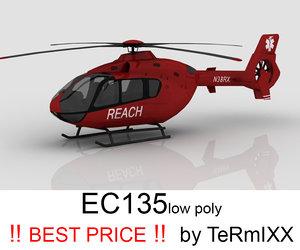 3d heli ec-135 reach model