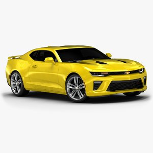 3d model 2016 chevrolet camaro interior