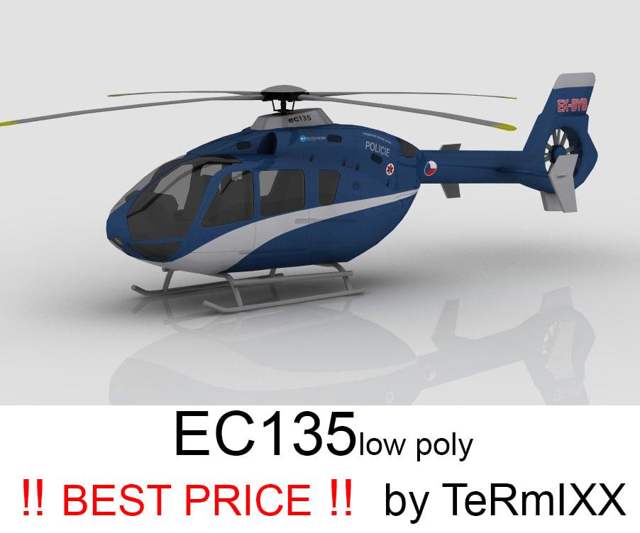 3d heli ec-135 police
