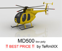 helicopter md-500 3d c4d