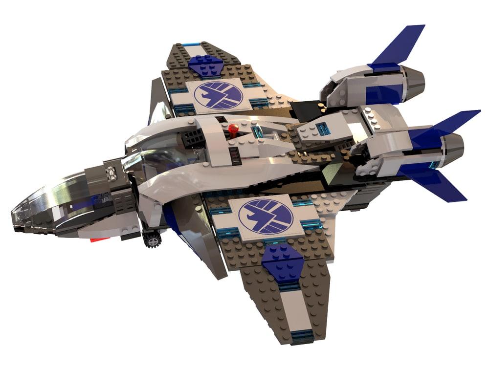 3d lego marvel quinjet model