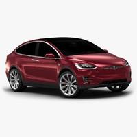 2017 tesla x interior 3d model
