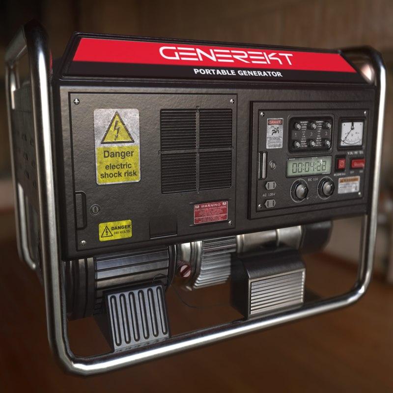 portable generator obj