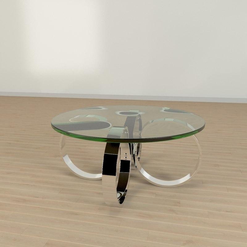 3d model chrome table