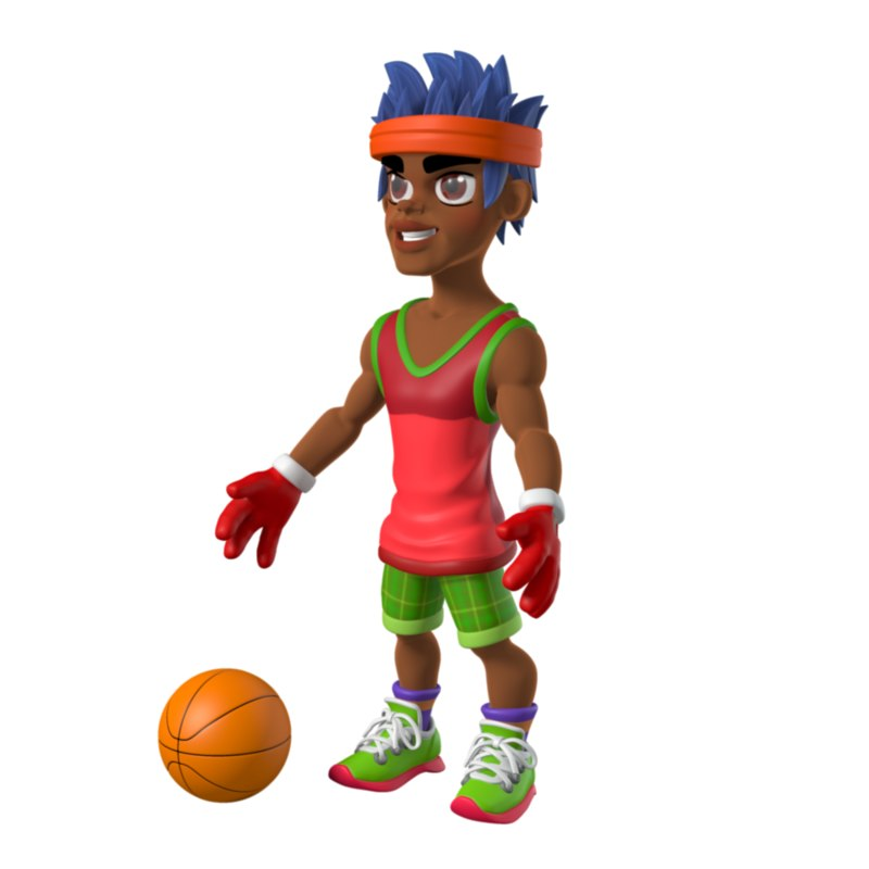 3d athlete basketball color