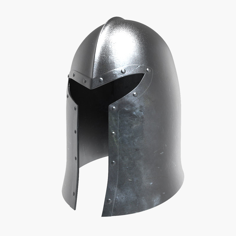 barbuta medieval helmet 3ds