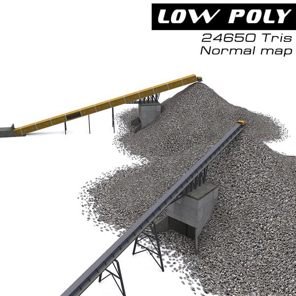 3d model conveyor belt