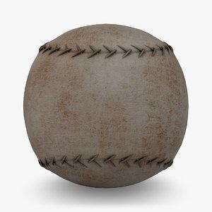 3d model baseball vintage