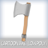 Cartoon Axe (Low Poly)
