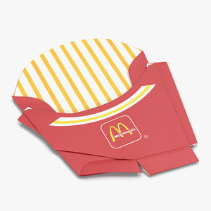 c4d crumpled french fry box