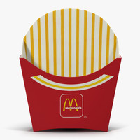 3ds french fry box mcdonalds