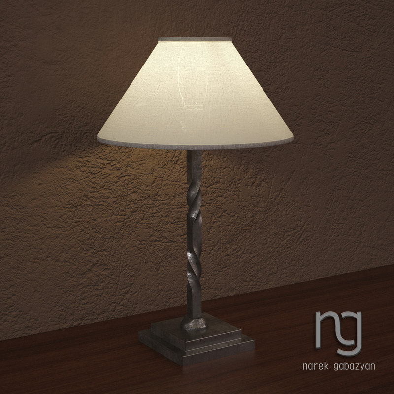 iron railing twist lamp max