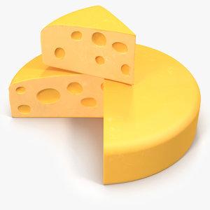 3d cheese cartoon