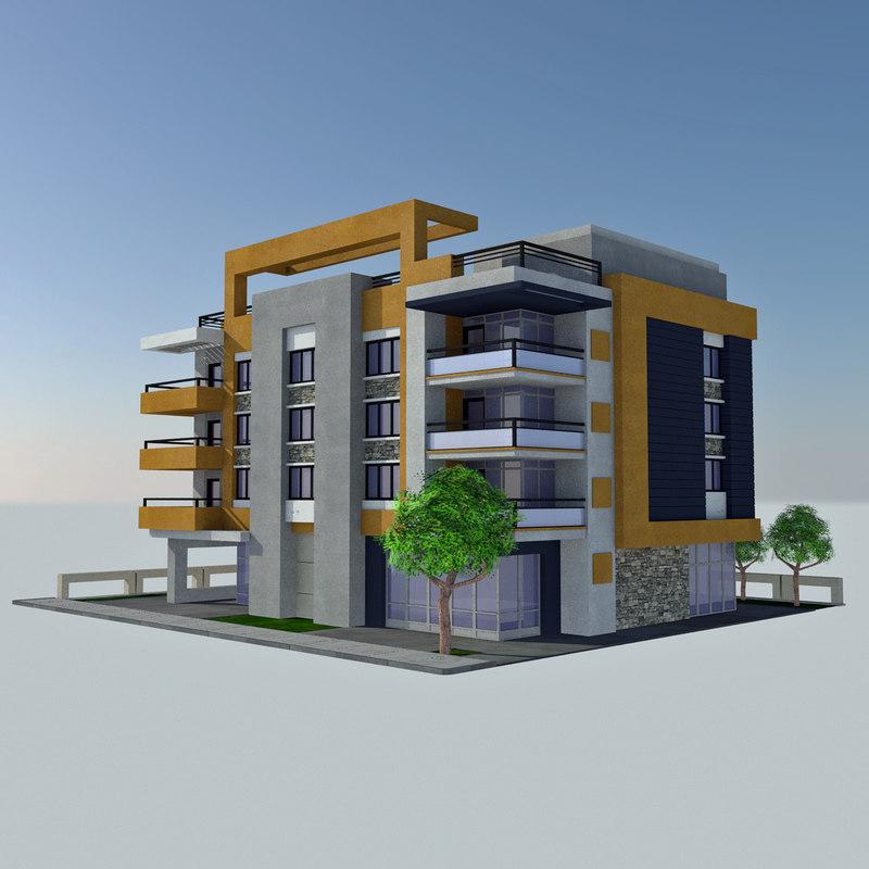 3d model modern apartment tile 5