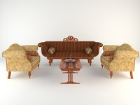 Antique sofa and table