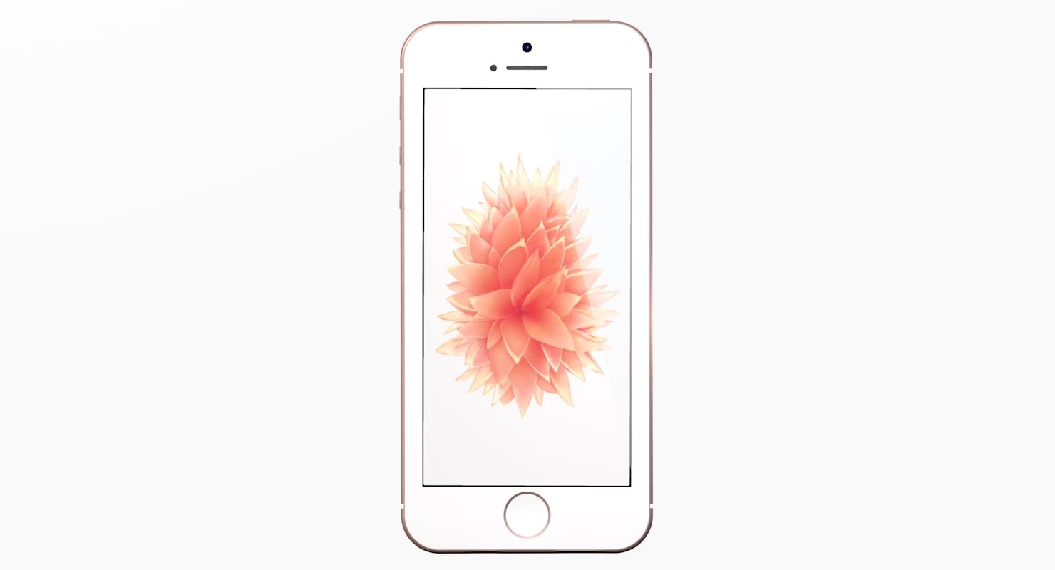 new iphone se rose 3d model